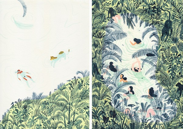 Monica Ramos Illustrations Just Swim