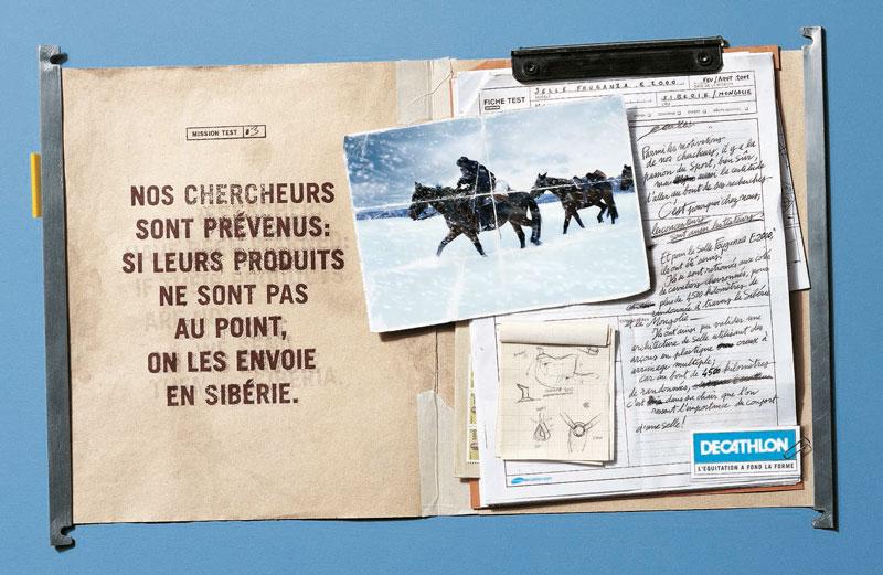 DecathlonMT siberie 1340 c - Dossier : Le meilleur de la Rédaction Publicitaire
