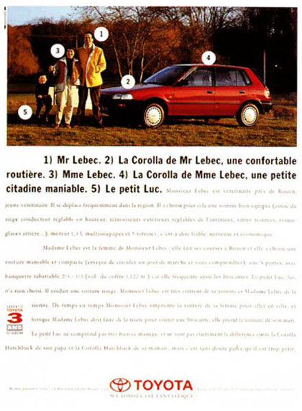 toyota 8 441x600 - Dossier : Le meilleur de la Rédaction Publicitaire