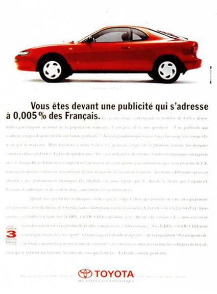 toyota 9 443x600 - Dossier : Le meilleur de la Rédaction Publicitaire