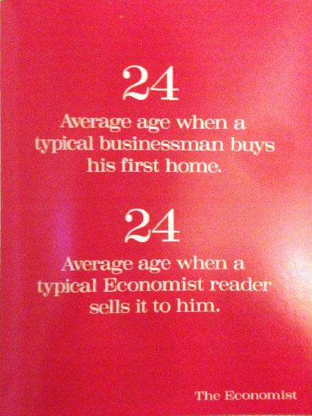 the economist 4 - Dossier : Le meilleur de la Rédaction Publicitaire