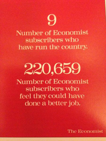 the economist 7 - Dossier : Le meilleur de la Rédaction Publicitaire