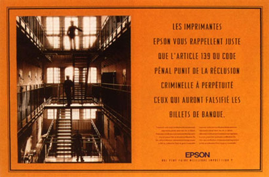 epson 2 - Dossier : Le meilleur de la Rédaction Publicitaire