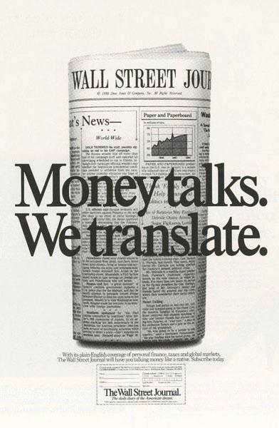 the wall street journal 2 - Dossier : Le meilleur de la Rédaction Publicitaire